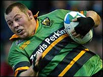 Northampton hooker Steve Thompson