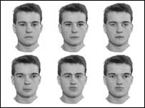 Image of faces used in the experiment