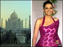 The Taj Mahal and Aishwarya Rai