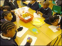 Test practice at Stockwell Primary