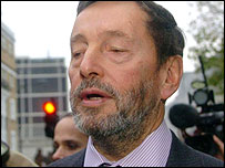 David Blunkett faces reporters on Wednesday