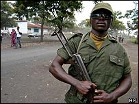 Congolese soldier in Goma