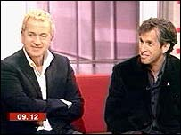 Mario Testino and Kenneth Cole, live on BBC Breakfast