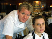 Gordon Ramsey and Angela Hartnett