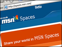 MSN Spaces website