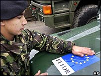 Eufor soldier