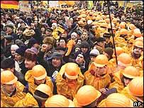 Opposition supporters in Kiev