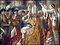 Coronation of Napoleon and Empress Josephine by French artist Jacques-Louis David