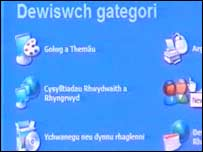 Dewislen Cymraeg Microsoft