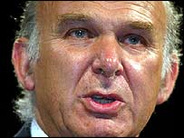 Vince Cable, Lib Dem Treasury spokesman