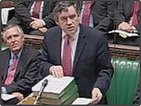Gordon Brown presents his pre-Budget report to the Commons