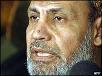 Hamas leader in the Gaza Strip Mahmoud al-Zahar