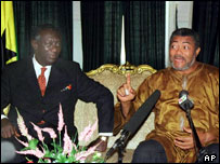 President John Agyekum Kufour and Jerry Rawlings