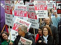 NUS demo against top-up fees, October 2003