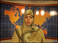 Al-Manar TV newsreader