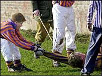 Prince Harry playing Wall Game