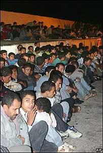 Inmigrantes llegando a España.