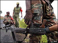 DR Congo soldiers in Goma