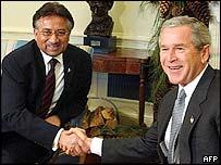 Pervez Musharraf and George W Bush