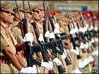 Indian army recruits in Kashmir
