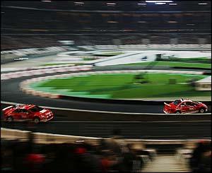 Heikki Kovalainen beats Sebastien Loeb in the final