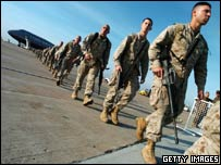 US marines returning from Iraq