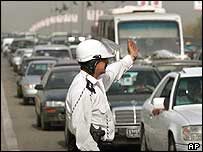 Traffic policeman in Baghdad