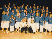 Butlins Bluecoats performing circa 1995