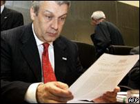 Italy's Finance Minister, Domenico Siniscalco
