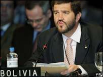 Ministro de Relaciones Exteriores de Bolivia, Juan Ignacio Siles.