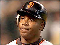 San Franciso Giants player Barry Bonds