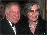 Anne Bancroft with husband Mel Brooks