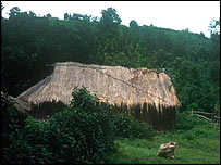 Traditional house in Meghalaya