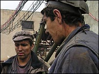 Miners in the Jiu Valley