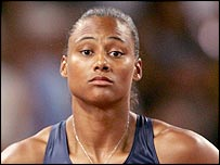 American sprinter Marion Jones