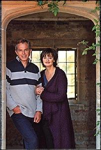 Caption: Tony Blair Christmas card [Where's the Christams?]