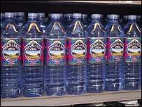 Seven 1.5L water bottles
