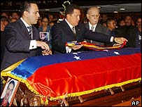Funeral of Venezuelan prosecutor Danilo Anderson