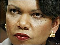 Condoleezza Rice, the US secretary of state-designate