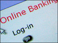 Online banking login screen, BBC