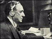 Guglielmo Marconi at work
