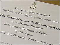 Invitation from Buckingham Palace