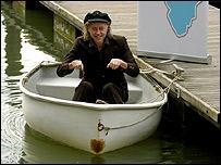 Sir Bob Geldof in a boat