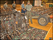 Weapons displayed by Indonesian military in Jakarta - 8/6/05