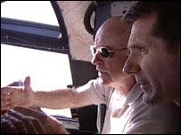 Bob Thomas (l) with David Shukman (r) (BBC)