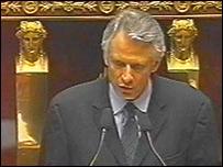French Prime Minister Dominique de Villepin