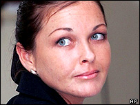 Schapelle Corby looks back at her family during her trial in a Denpasar court on the Indonesian resort island of Bali Friday, May 27, 2005.