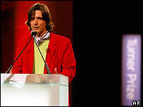Jeremy Deller at Turner Prize ceremony