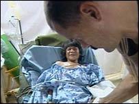 Landmine victim Kamila