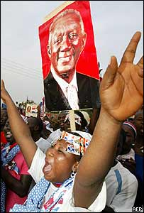 Supporter of incumbent Ghanaian President John Kufuor
